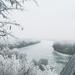 Tisza Tokajnál télen