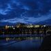 Prágai vár kivilágítva
